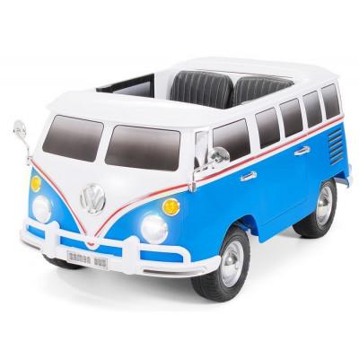 Bus VW Bulli T1 Samba Camper Bleu 2 places 12 volts Electrique pour enfant avec télécommande parentale Voitures électriques e...