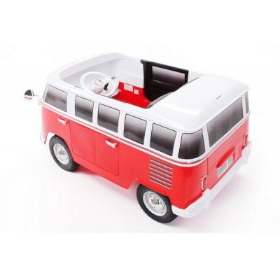 Bus VW Bulli T1 Samba Camper Red 2 places 12 volts Electric for children with parental remote control