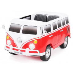 Bus VW Bulli T1 Samba Camper Rouge 2 places 12 volts Electrique pour enfant avec télécommande parentale Voitures électriques ...