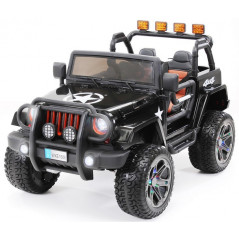 Jeep électrique 4x4 noire 12 volts enfant télécommande 4x4 électriques pour enfants  JEEP/NOIR