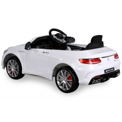 Mercedes-Benz S63 AMG Electric Car For Children 12 Volts White