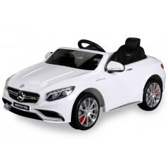 Mercedes-Benz S63 AMG Voiture électrique Pour enfant 12 Volts Blanche Voitures électriques enfants S63WT