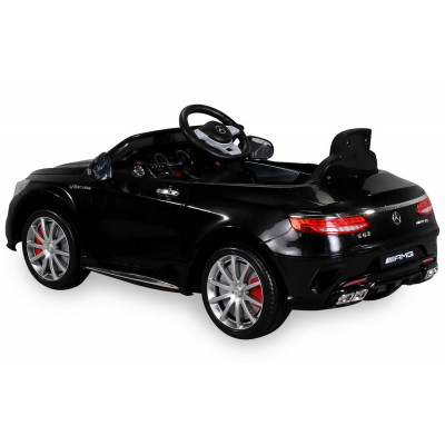 Mercedes-Benz S63 AMG Electric Car For Kids 12 Volts Metallic Black