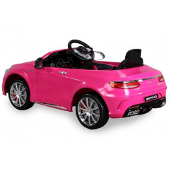 Mercedes-Benz S63 AMG Electric car For children 12 Volts Pink