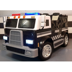 Camion Police Electrique Pour enfants, 2 places 12 Volts avec télécommande parentale Accueil POLICE/2