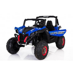 Beach Buggy 2 places, Blue, Screen MP4 12 Volts Electric for children with parental remote control