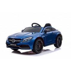 Mercedes C63 AMG Voiture électrique pour enfant 12 Volts avec télécommande parentale, bleu Voitures électriques enfants C63/BLEU