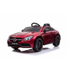 Mercedes C63 AMG Voiture électrique pour enfant 12 Volts avec télécommande parentale, rouge Voitures électriques enfants C63/...