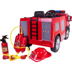 12 Volt Electric Fire Truck, 1 place with parental remote control