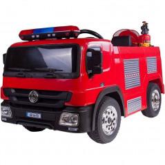 Camion Pompier Electrique 12 Volts, 1 place avec télécommande parentale Voitures électriques enfants P1818