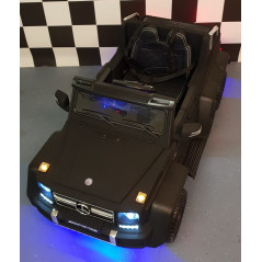 Mercedes-Benz G63 6x6, Voiture électrique pour enfant 12 Volts, noir mat 4x4 électriques pour enfants  G63/6X6NOIRM
