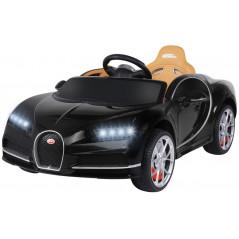 Bugatti Chiron black 12 Volts Electric car For children with parental remote control