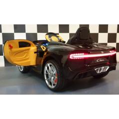Bugatti Chiron noire 12 Volts Voiture électrique Pour enfant avec télécommande parentale Voitures électriques enfants CHIRON/...
