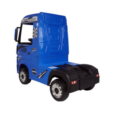 Mercedes Actros Blue, 12 Volts, Electric child truck with 2.4 Ghz remote control, EVA wheels