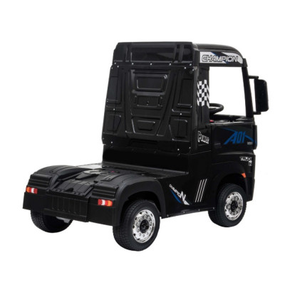 Mercedes Actros Black, 12 Volts, Electric child truck with 2.4 Ghz remote control, EVA wheels