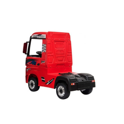 Mercedes Actros Red, 12 Volts, Electric child truck with 2.4 Ghz remote control, EVA wheels