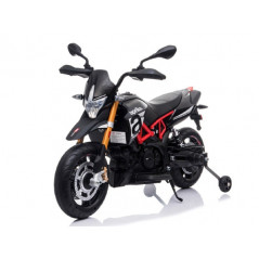 Moto Aprilia Dorsaduro 900 Electrique pour Enfant 12 Volts, roues EVA Accueil A007