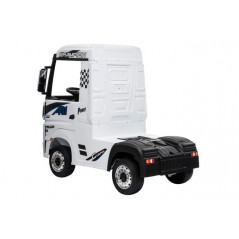 Mercedes Actros White, 12 Volts, Electric child truck with 2.4 Ghz remote control, EVA wheels