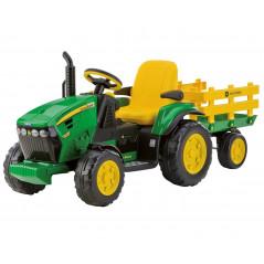 Tracteur John Deere Ground Force Electrique pour Enfant 12 Volts Peg-Pérego Tracteurs électriques pour enfants  OR0047