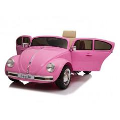 Volkswagen Beetle Classic Rose 12 Volts Electrique pour enfant avec télécommande parentale Volkswagen  BEETLECLASSIC/ROSE