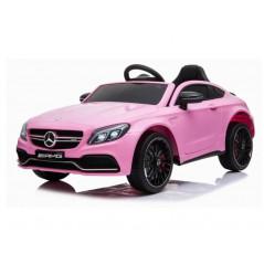 Mercedes C63 Rose voiture électrique enfant 12 Volts avec télécommande parentale Véhicules électriques C63/ROSE