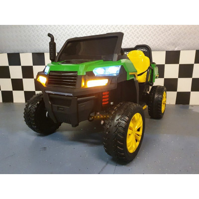 Farmer Jeep 12 Volts 2 places 4 roues motrices avec télécommande prentale 4x4 électriques pour enfants  GAJEEP/4X4