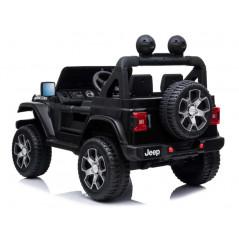Monster Jeep 4x4 électrique Pour enfant 12 Volts Noir flamme avec Télécommande Parentale