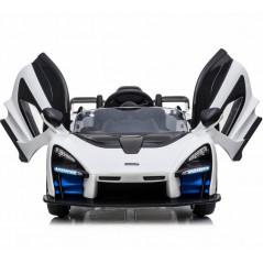 McLaren Senna White 12 Volts Electric car For children with parental remote control