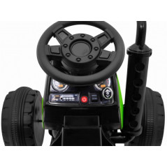 Electric Child Tractor Green 12 volts with 2.4 Ghz remote control