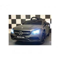 Mercedes C63 AMG Gris mat Voiture électrique pour enfant 12 Volts avec télécommande parentale Voitures électriques enfants C6...