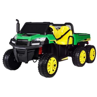 Farmer Jeep 6x6,24 Volts 2 places 4 roues motrices avec télécommande parentale 4x4 électriques pour enfants  GAJEEP/6X6