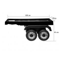 Remorque nore pour camion Electrique pour enfant Accueil REM/N