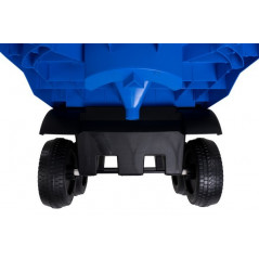 Blue trailer for electric truck for children