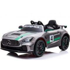 Mercedes GT4 AMG Grise, Voiture électrique Pour enfant 12 Volts Accueil GT4/GRIS
