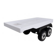 Remorque Blanche pour camion Electrique pour enfant Autres modèles Camions enfants