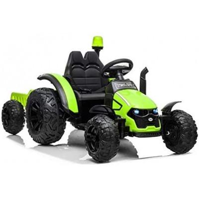 Tracteur Electrique Pour enfant 12 Volts vert avec remorque Tracteurs électriques pour enfants  LE7309/VERT