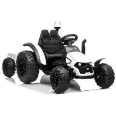 Tracteur Electrique Pour enfant 12 Volts Blanc avec remorque Tracteurs électriques pour enfants  LE7310/BLANC