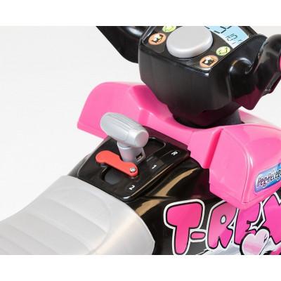 Quad Corral T. Rex Electric for child 12 Volts Pink & black Peg-Pérego