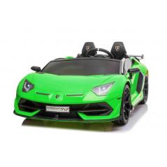 Lamborghini Aventador Verte 12 Volts Electrique pour enfant 2 places savec télécommande parentale Voitures électriques enfant...