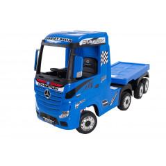 Mercedes Actros Bleu avec remorque, 12 Volts, Camion électrique pour enfant avec télécommande 2.4 Ghz, roues EVA Véhicules él...