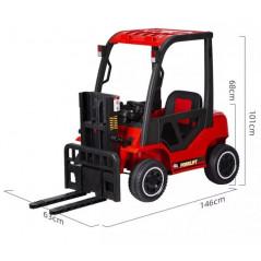 Chariot Elevateur Rouge Electrique pour enfant 1 place, 12 volts avec télécommande Tracteurs électriques pour enfants  CH/R
