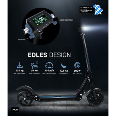 """E-Flux Lite One 500 Watts, 8 """"Foldable Scooter"""