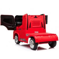 Camion container rouge, Electrique 12 volts pour enfant, fonction RC Voitures électriques enfants CONTAINER/R