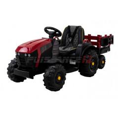 Tracteur Electrique avec remorque, 12 Volts, ceinture, télécommande parentale