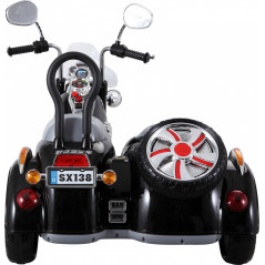 Electric Sidecar For Children 12 Volts Black