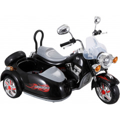 Side-car Electrique Pour enfants 12 Volts Noir Moto electrique enfant 138N