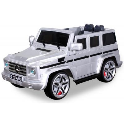 Mercedes AMG G55 Voiture électrique Pour enfant 12 Volts Gris Métallisé Voitures électriques enfants PR0016670-01