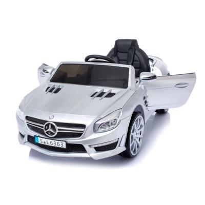 Mercedes SL63 Voiture électrique Pour enfant 12 Volts Gris Métallisé avec Télécommande Parentale Voitures électriques enfants...