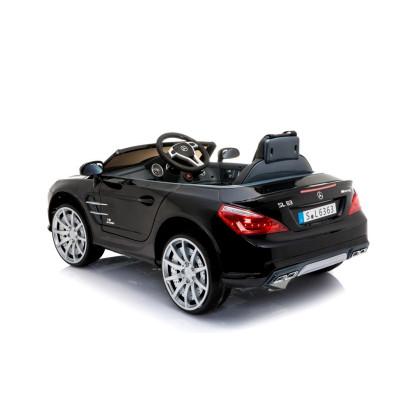 Mercedes SL63 Electric Car For Children 12 Volts Metallic Black with Parental Remote Control