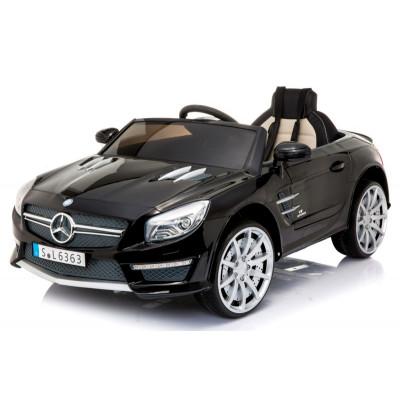 Mercedes SL63 Voiture électrique Pour enfant 12 Volts Noir Métallisé avec Télécommande Parentale Voitures électriques enfants...